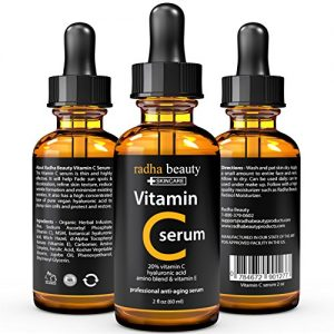VITAMIN-C-Serum-for-Face-2-fl-oz-20-Organic-Vit-C-E-Vegan-Hyaluronic-Acid-Proffessional-Facial-Skin-Care-Formula-Radha-Beauty-0